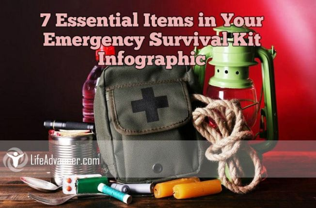 Items Emergency Survival Kit Infographic