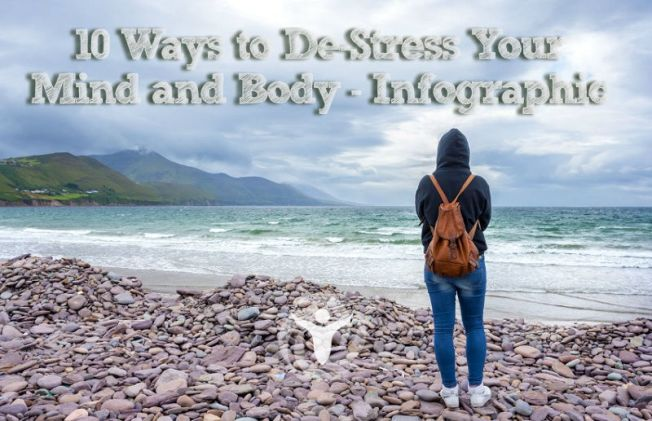 Ways De-Stress Mind and Body Infographic